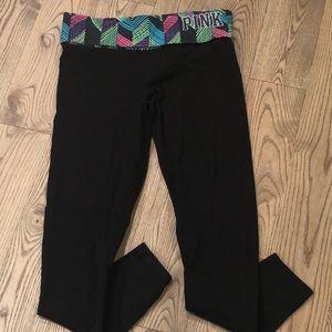 PINK Yoga Leggings Size Medium EUC